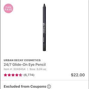 Urban Decay Makeup - 'Zero' Urban Decay 24/7 Glide On Eyeliner